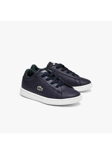 Lacoste Unisex Çocuk Carnaby Evo 0721 1 Sui Sneakers 741SUI0001.092 Lacivert